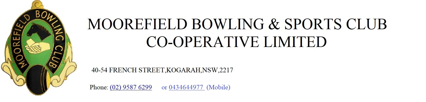 Moorefield Bowling and Sports Club Co-op